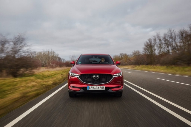 2021 Mazda CX 5 Soul Red Crystal Action 3