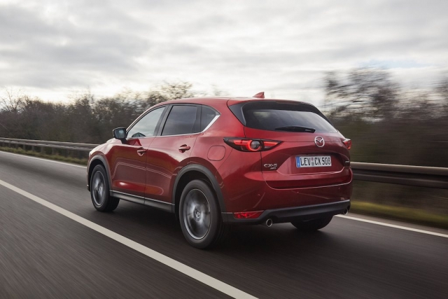 2021 Mazda CX 5 Soul Red Crystal Action 4